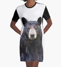 Black Bear Graphic T-Shirt Dress
