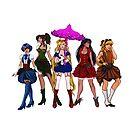 Steampunk Senshi by ratgirlstudios
