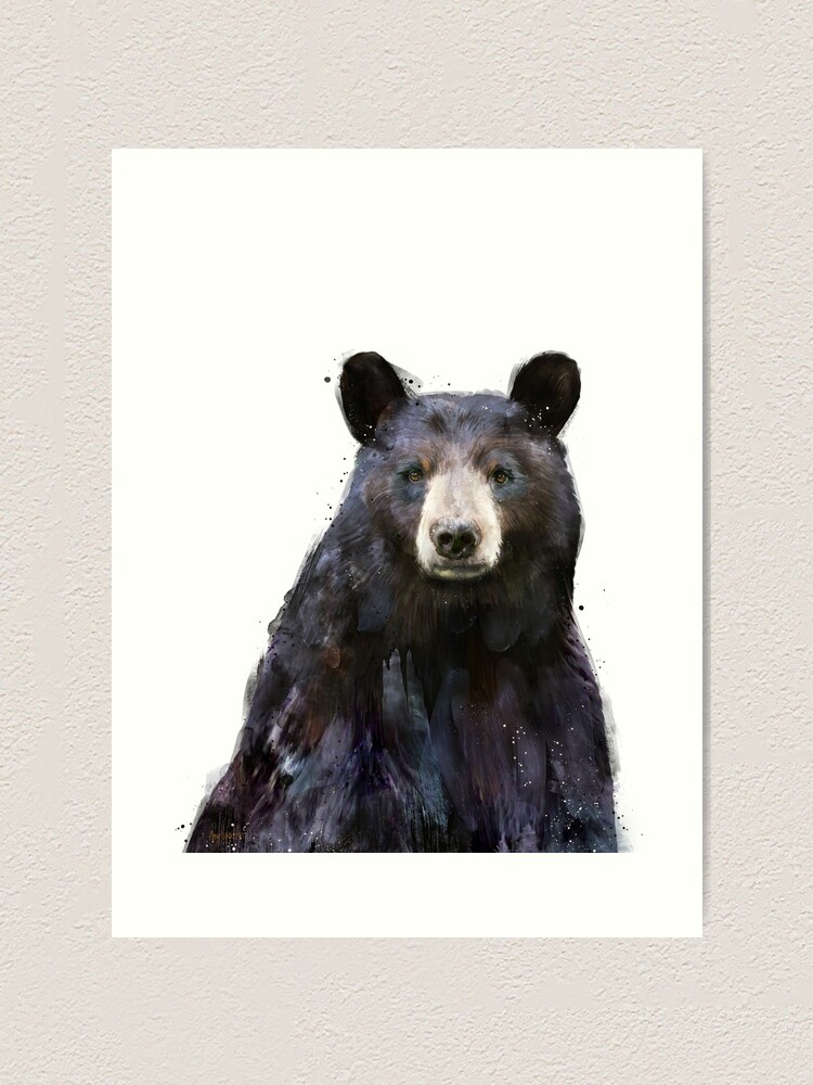 Alternate view of Black Bear Art Print