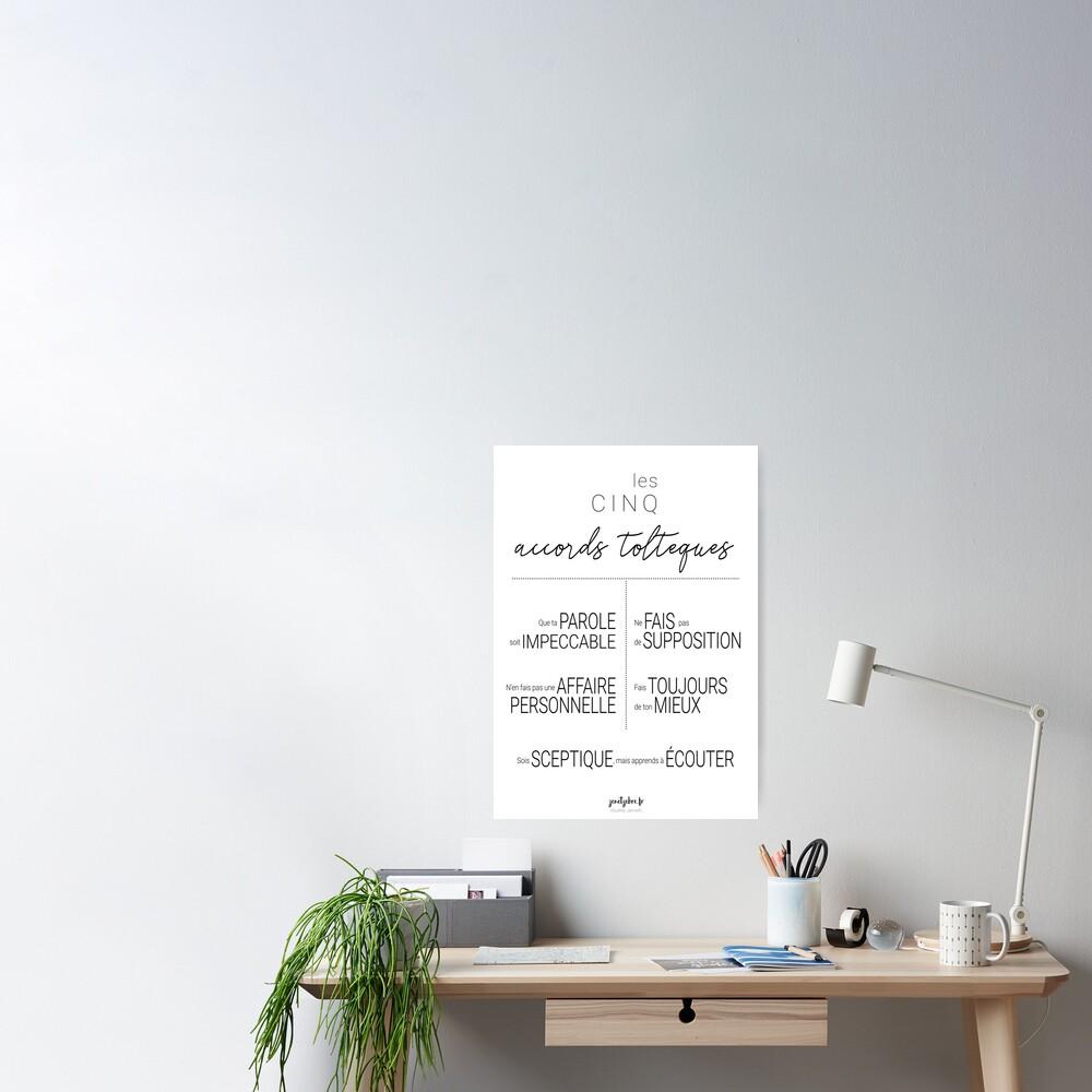 Poster «Affiche des accords toltèques n°3»