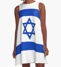 National flag of the State of Israel - high quality authentic file A-Line Dress