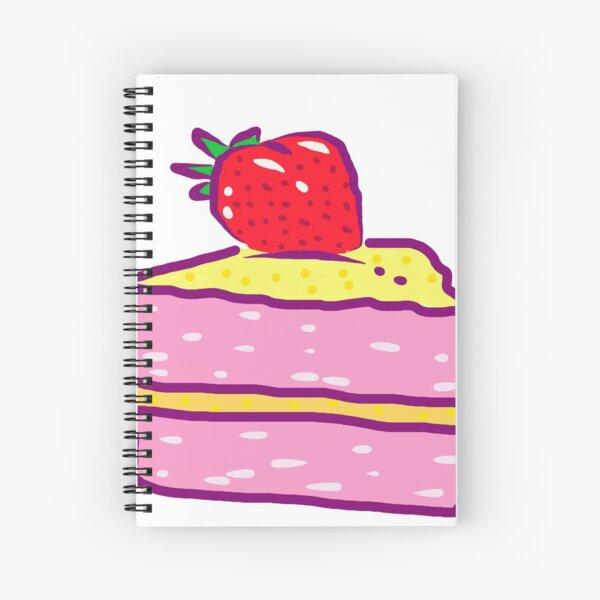 Strawberry cake Spiral Notebook