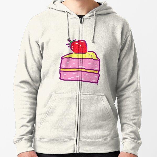 Strawberry cake Zipped Hoodie