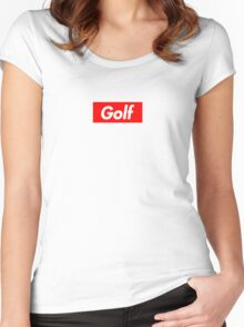 Golf Box Logo Women's Fitted Scoop T-Shirt