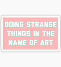 Art sticker Sticker