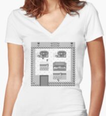 Pallet Town Women's Fitted V-Neck T-Shirt