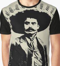 Negro Monocromo Zapata Camiseta Emiliano Gráfica HtIPPwq6x