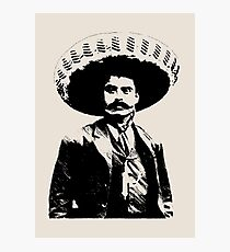 Emiliano Zapata - unichrome black Photographic Print