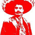 Emiliano Zapata - unichrome red by Bela-Manson