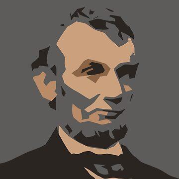 Lincoln, minimalistic portrait by DreamingLizard