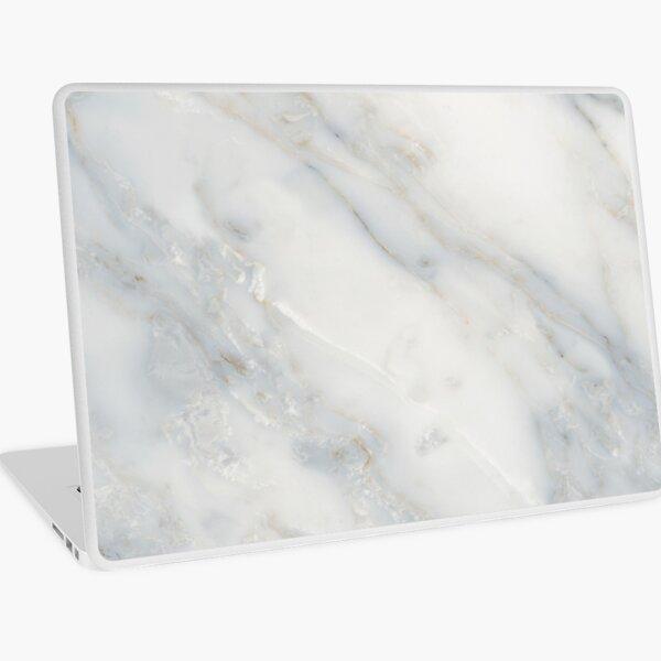 white marble texture Laptop Skin