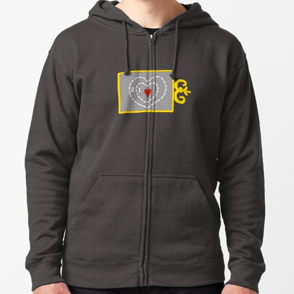 Two Sizes Too Small Zipped Hoodie