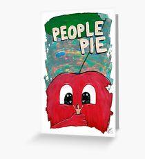 People Pie Greeting Card