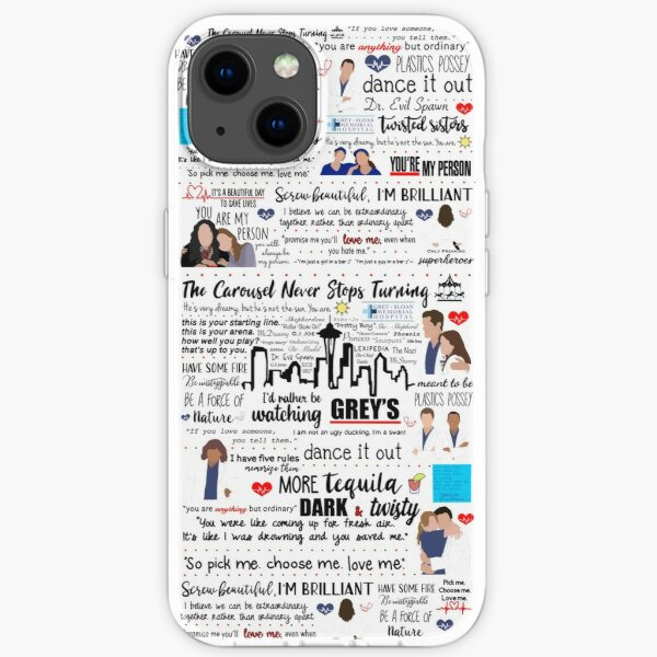 Grey's Quote Collage  iPhone Soft Case
