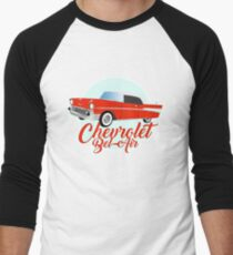 Chevy Chevrolet Muscle Car Men's Baseball ¾ T-Shirt