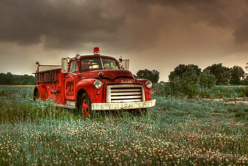 Fire Truck: Canvas Prints | Redbubble