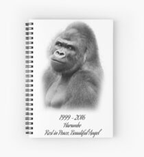 Rest in Peace, Harambe Spiral Notebook