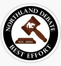 Northland Debate Sticker Sticker