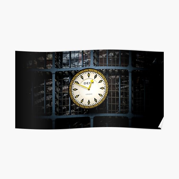 The Clock at St Pancras Railway Station Poster