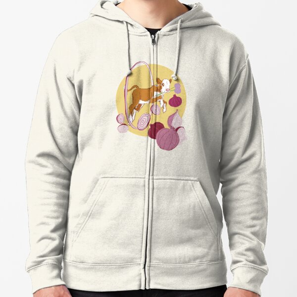 Sipuli the male calf with onions Zipped Hoodie