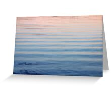 Summer Sunset Reflection on Cedarville Bay Greeting Card