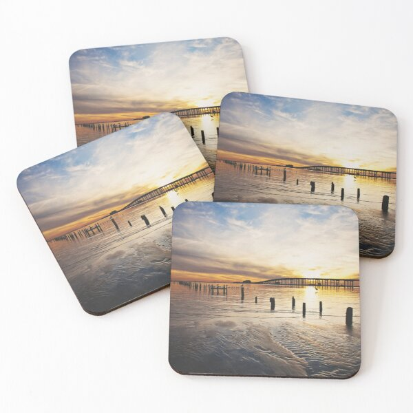 Low Tide Front Beach Coasters (Set of 4)