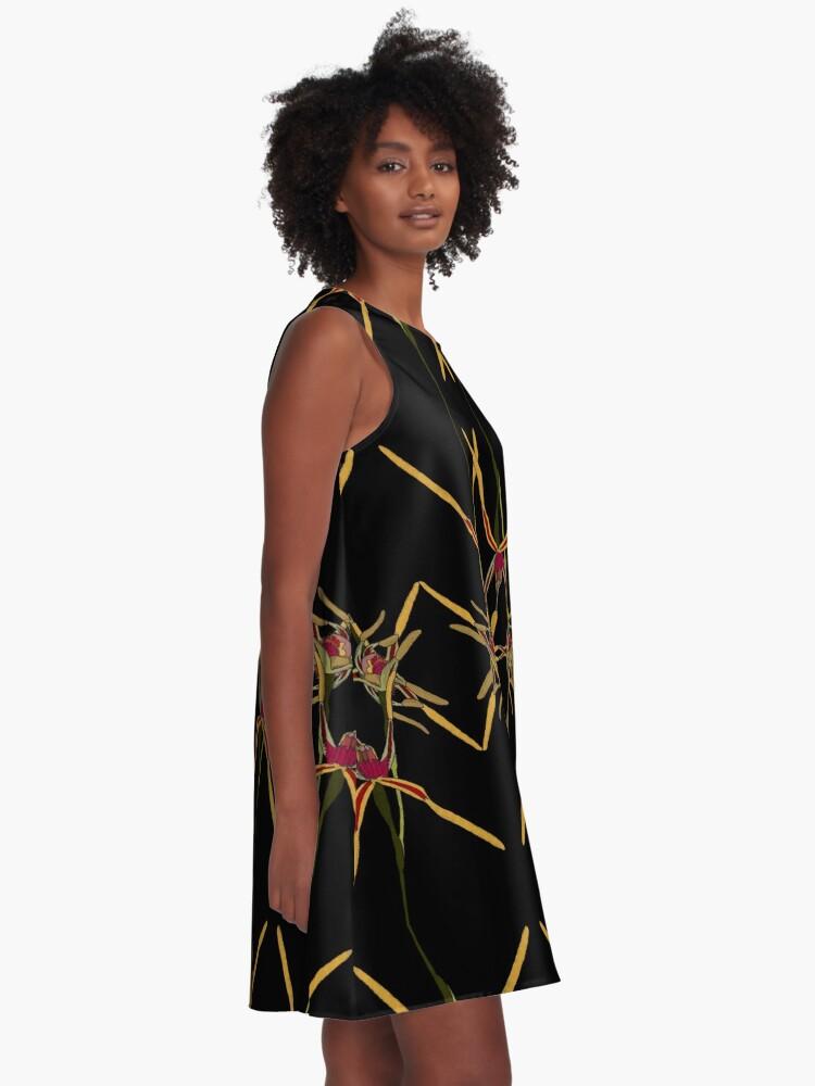 Alternate view of Reaching Spider Orchid Mirror Design Western Australia A-Line Dress