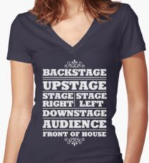 Theatre Geeks Design Women's Fitted V-Neck T-Shirt