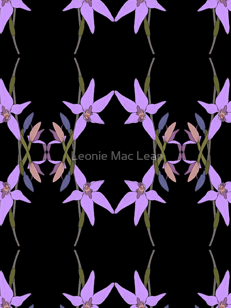 Pink Fairy Native Orchid Mirror Design by yallmia