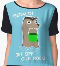 Gerald! Get off our Rock! Women's Chiffon Top