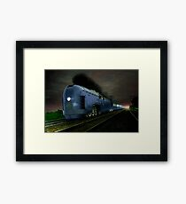Blue Express Framed Print