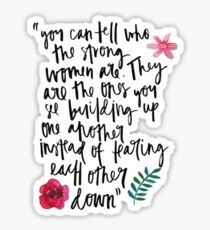 Strong Women Quote Sticker