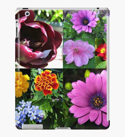 So lange, Frühling! Hallo, Sommer! Sonnenschein-Blumen-Collagen iPad-Hülle & Klebefolie