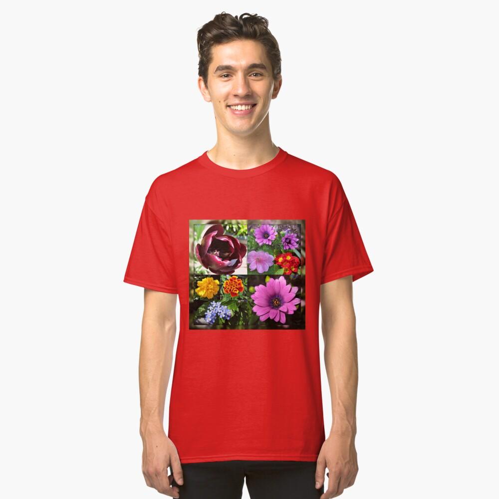So lange, Frühling! Hallo, Sommer! Sonnenschein-Blumen-Collagen Classic T-Shirt
