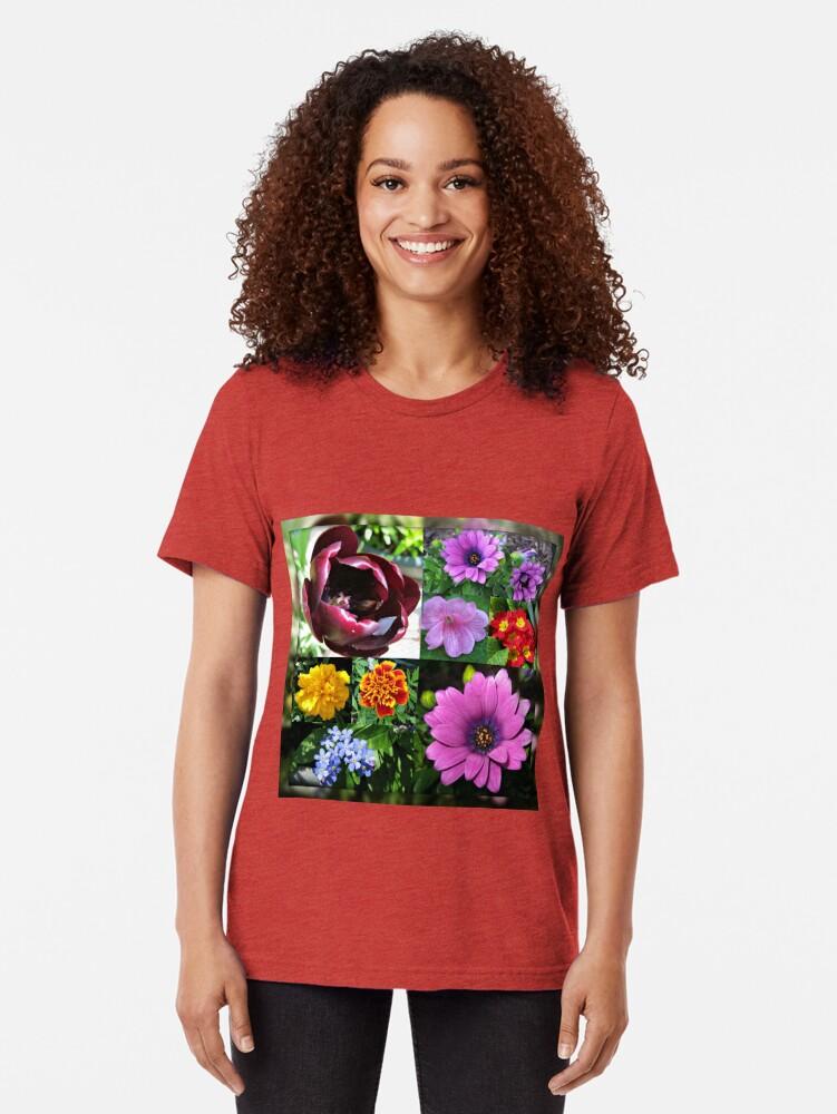 Alternative Ansicht von So lange, Frühling! Hallo, Sommer! Sonnenschein-Blumen-Collagen Vintage T-Shirt