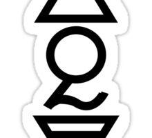 FOUR ELEMENTS PLUS ONE V  - solid black Sticker