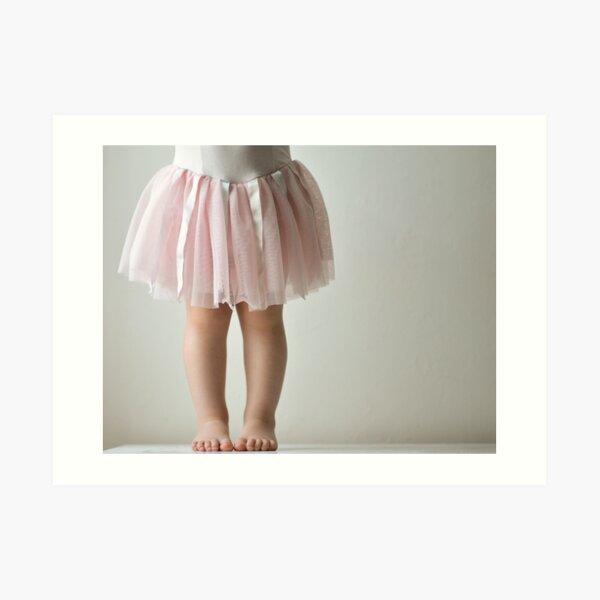 Toddler in pink tutu Art Print