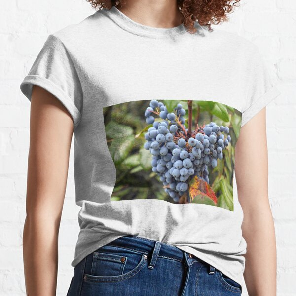 Detail of wine grapes. Classic T-Shirt