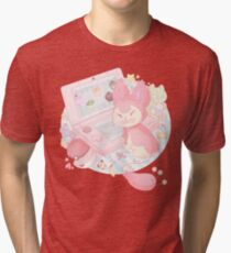 Pastel Skitty Tri-blend T-Shirt