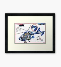 MD Helicopter EXPLORER cutaway Framed Print