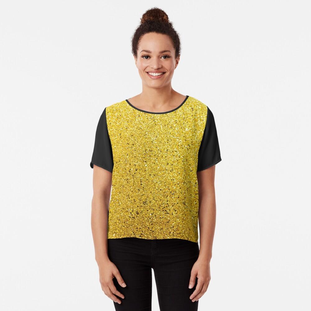 Sonnenschein Glittery Golden Sparkle Chiffon Top