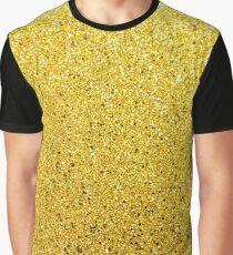 Sunshine Glittery Golden Sparkle Graphic T-Shirt