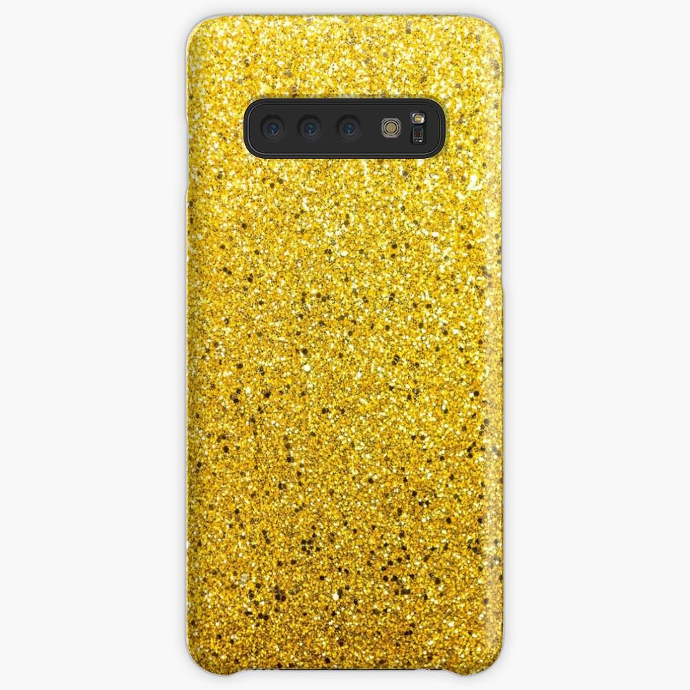 Sonnenschein Glittery Golden Sparkle Hülle & Klebefolie für Samsung Galaxy
