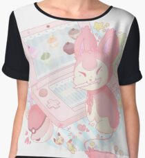 Pastel Skitty Chiffon Top