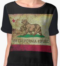 New california republic grunge Women's Chiffon Top