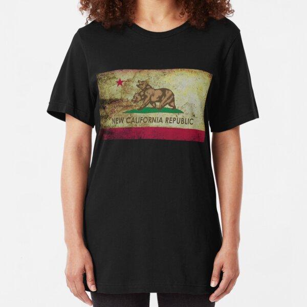 New california republic grunge Slim Fit T-Shirt