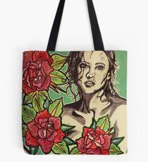 Bolsa de tela Belleza entre rosas