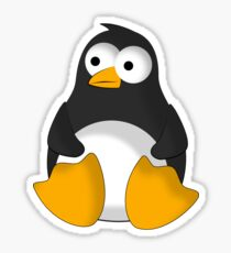 Penguin cartoon drawing Sticker