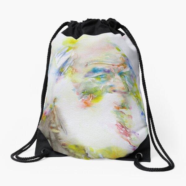 WALT WHITMAN - watercolor portrait.5 Drawstring Bag