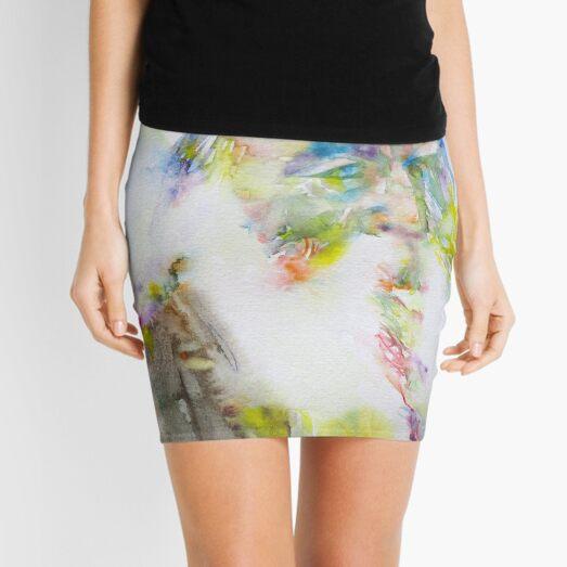 WALT WHITMAN - watercolor portrait.5 Mini Skirt